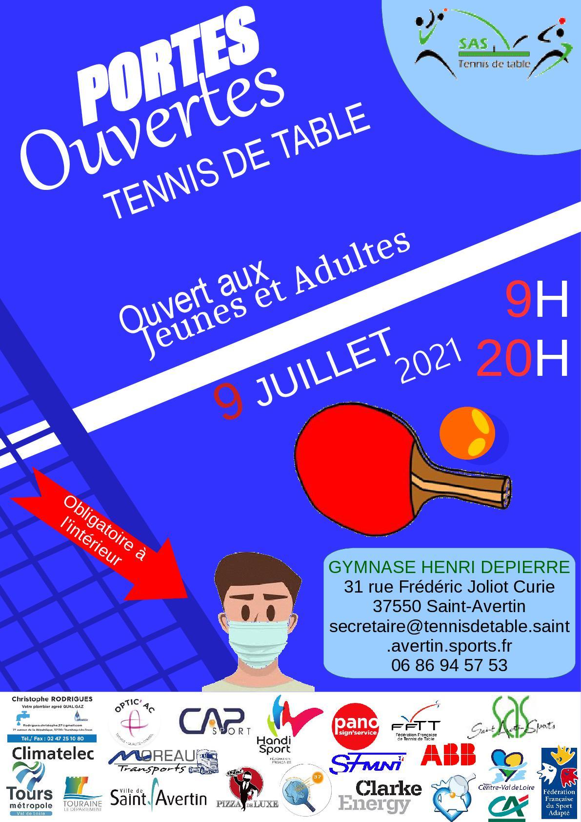 Portes Ouvertes Tennis de Table